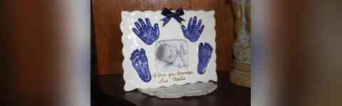 **Create a Timeless Ceramic Baby Keepsake**  Precious Prints Clay Prints