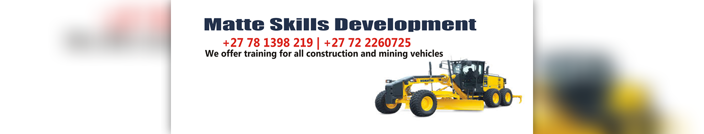 Front end loader training in tsumed /rehoboth+27833143397