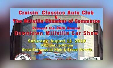Th Annual Millville Downtown Car Show High Broad Streets - Millville car show 2018