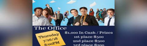 $1000 in Prizes at our The Office Trivia Night! @ Liam