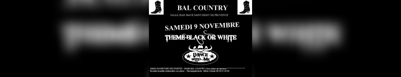 Soirée Country : Black And White
