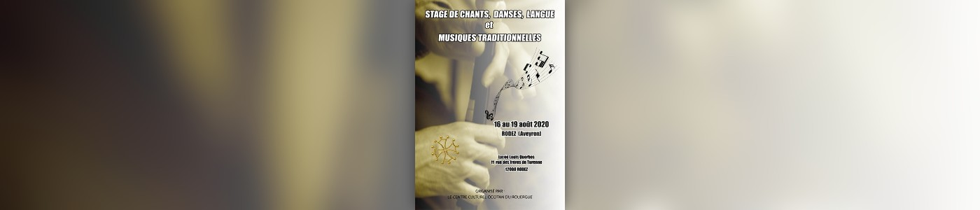 Stages Chants, Danses, langue et Musiques Traditionnelles