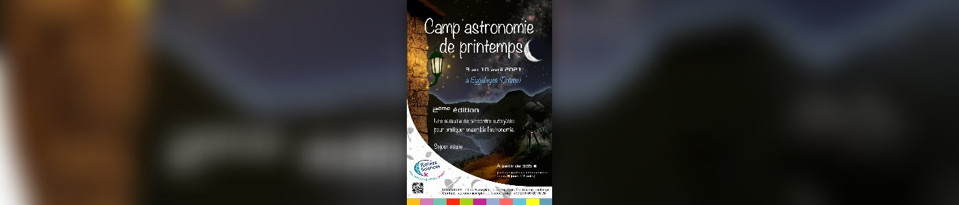 Camp astronomie de Printemps